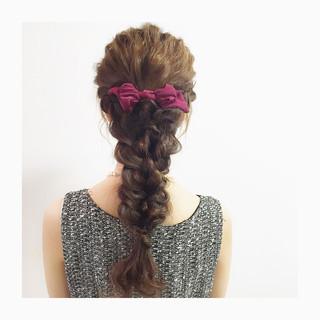 ヘアアレンジ ツイスト 大人かわいい ロング ヘアスタイルや髪型の写真・画像