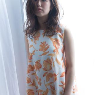 セミロング 大人かわいい かわいい フェミニン ヘアスタイルや髪型の写真・画像