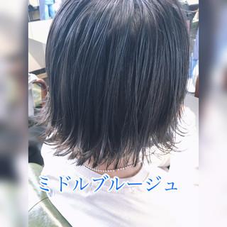 ボブ 切りっぱなしボブ 透明感カラー ミニボブ ヘアスタイルや髪型の写真・画像