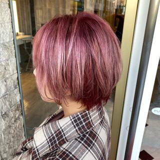 ピンク ストリート ラベンダーピンク ベリーピンク ヘアスタイルや髪型の写真・画像