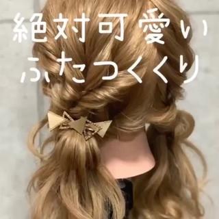 成人式 簡単ヘアアレンジ ガーリー ヘアアレンジ ヘアスタイルや髪型の写真・画像