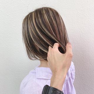 ハイライト エレガント コントラストハイライト ブリーチ ヘアスタイルや髪型の写真・画像