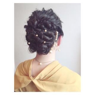 クラシカル 外国人風 ロープ編み ヘアアレンジ ヘアスタイルや髪型の写真・画像