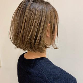 ショートボブ ナチュラル  ミニボブ ヘアスタイルや髪型の写真・画像