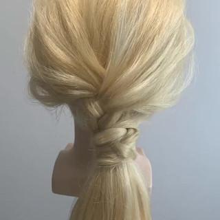 ロング ヘアアレンジ セルフアレンジ 大人女子 ヘアスタイルや髪型の写真・画像