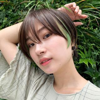 阿藤俊也 似合わせカット ハンサムショート デザインカラー ヘアスタイルや髪型の写真・画像