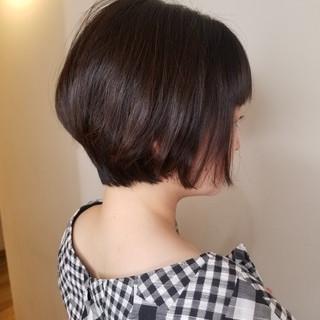 ショートボブ ミニボブ エレガント ショートヘア ヘアスタイルや髪型の写真・画像