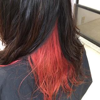 ピンク モード セミロング 個性的 ヘアスタイルや髪型の写真・画像 ヘアスタイルや髪型の写真・画像