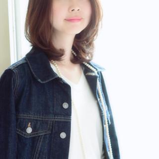 コンサバ 大人女子 ミディアム 大人かわいい ヘアスタイルや髪型の写真・画像