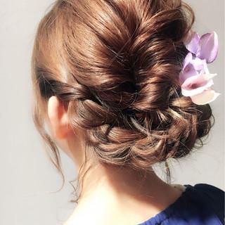 ヘアアレンジ 結婚式 ゆるふわ ボブ ヘアスタイルや髪型の写真・画像 ヘアスタイルや髪型の写真・画像