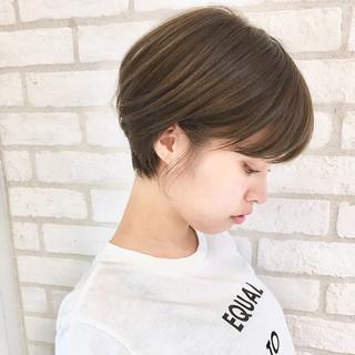 ショート ナチュラル 簡単ヘアアレンジ スポーツ ヘアスタイルや髪型の写真・画像