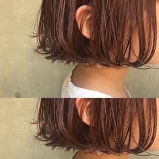 リラックス ミルクティー 色気 ボブ ヘアスタイルや髪型の写真・画像
