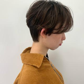 ショートボブ ショート ミニボブ 無造作パーマ ヘアスタイルや髪型の写真・画像