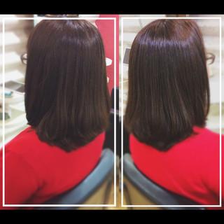 社会人の味方 艶髪 ミディアム エレガント ヘアスタイルや髪型の写真・画像