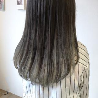 春 夏 モード シルバー ヘアスタイルや髪型の写真・画像