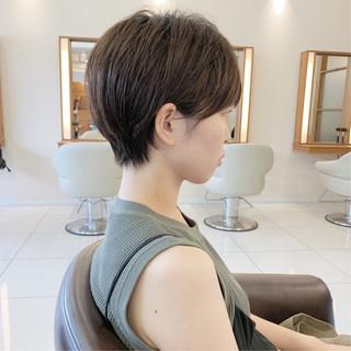 ふんわり ふんわりショート 大人可愛い ショートヘア ヘアスタイルや髪型の写真・画像