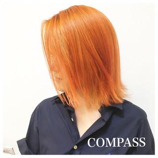 ヘアアレンジ 涼しげ ボブ リラックス ヘアスタイルや髪型の写真・画像