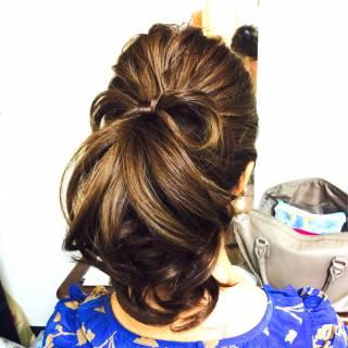 ポニーテール ロング コンサバ 結婚式 ヘアスタイルや髪型の写真・画像