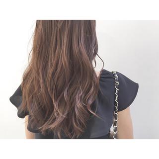 暗髪 ロング アッシュ 外国人風 ヘアスタイルや髪型の写真・画像