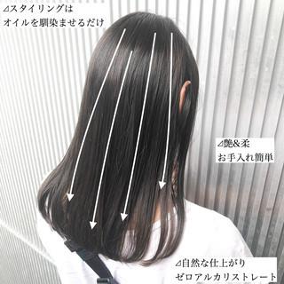 ナチュラル ミルクティーグレージュ ストレート グレージュ ヘアスタイルや髪型の写真・画像