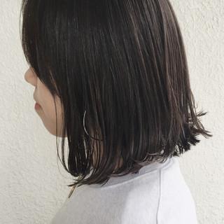 アッシュ 暗髪 ボブ 外国人風 ヘアスタイルや髪型の写真・画像
