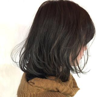 グレージュ ナチュラル グラデーションカラー ハイライト ヘアスタイルや髪型の写真・画像