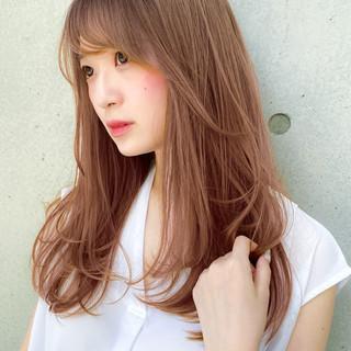 デジタルパーマ ロング 大人可愛い レイヤースタイル ヘアスタイルや髪型の写真・画像