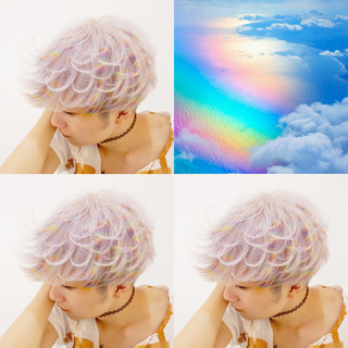 メンズ 派手髪 ハイトーン 外国人風 ヘアスタイルや髪型の写真・画像