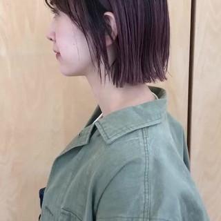 ミニボブ ストリート グラデーションカラー ボブ ヘアスタイルや髪型の写真・画像