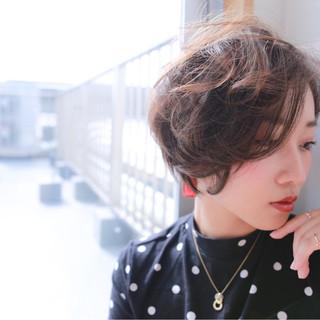 ショート かっこいい エフォートレス 大人女子 ヘアスタイルや髪型の写真・画像