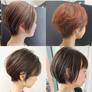 ショートボブ インナーカラー ショート ベリーショート ヘアスタイルや髪型の写真・画像
