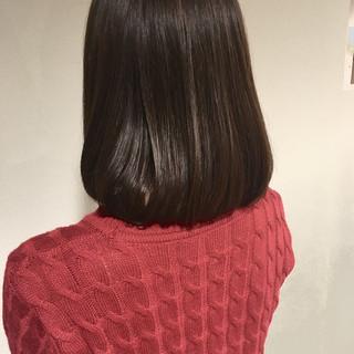 大人女子 ボブ 外国人風カラー ナチュラル ヘアスタイルや髪型の写真・画像
