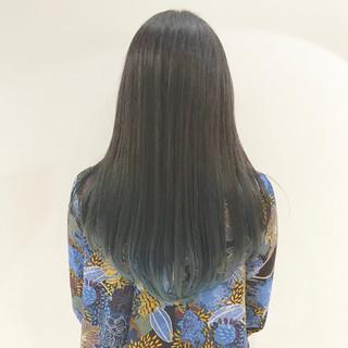 グラデーションカラー インナーカラー ロング ブリーチ ヘアスタイルや髪型の写真・画像 ヘアスタイルや髪型の写真・画像