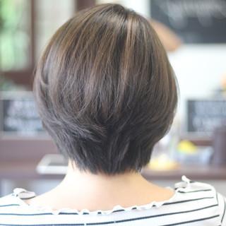 ナチュラル お手入れ簡単!! 透明感カラー ショート ヘアスタイルや髪型の写真・画像