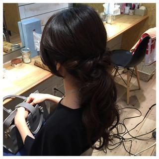 ねじり パーティ ヘアアレンジ アップスタイル ヘアスタイルや髪型の写真・画像