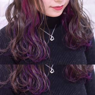 透明感カラー ユニコーンカラー 簡単ヘアアレンジ 抜け感 ヘアスタイルや髪型の写真・画像