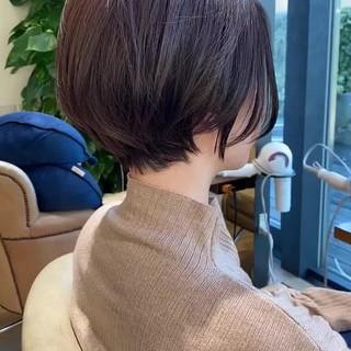 ショートヘア ミルクティーグレージュ ショートボブ ミニボブ ヘアスタイルや髪型の写真・画像