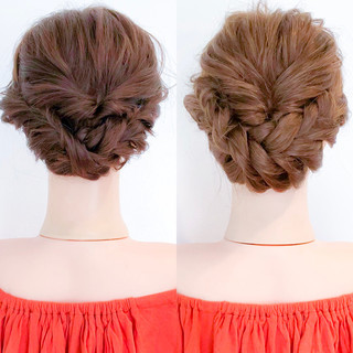 ヘアアレンジ 結婚式 アウトドア 簡単ヘアアレンジ ヘアスタイルや髪型の写真・画像