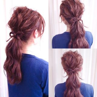 ショート ヘアアレンジ セミロング 編み込み ヘアスタイルや髪型の写真・画像