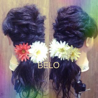ゆるふわ 簡単ヘアアレンジ ヘアアレンジ 黒髪 ヘアスタイルや髪型の写真・画像 ヘアスタイルや髪型の写真・画像