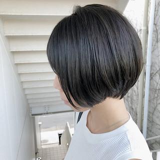 透明感カラー ショート ナチュラル グレージュ ヘアスタイルや髪型の写真・画像