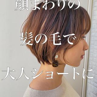ショートボブ ナチュラル ミニボブ 切りっぱなしボブ ヘアスタイルや髪型の写真・画像