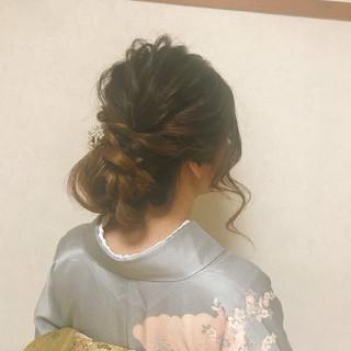 結婚式 ロング ゆるふわ エレガント ヘアスタイルや髪型の写真・画像