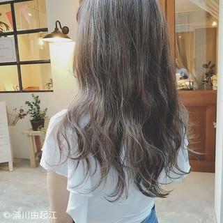 アンニュイほつれヘア ハイライト デート ロング ヘアスタイルや髪型の写真・画像
