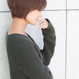 簡単 ショート ナチュラル 簡単ヘアアレンジ ヘアスタイルや髪型の写真・画像