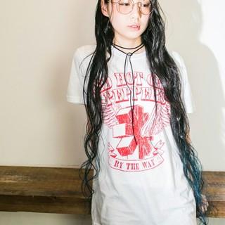 レディース ストリート ウェットヘア 夏 ヘアスタイルや髪型の写真・画像 ヘアスタイルや髪型の写真・画像