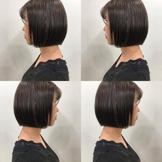 ボブ ウェットヘア 黒髪 ガーリー ヘアスタイルや髪型の写真・画像