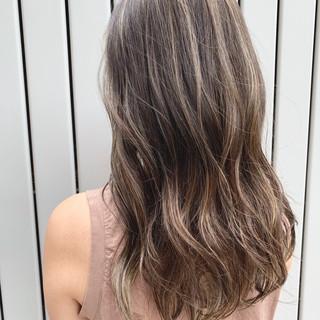 グラデーションカラー 外国人風カラー デート ロング ヘアスタイルや髪型の写真・画像