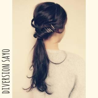 ラフ ゆるふわ 波ウェーブ 編み込み ヘアスタイルや髪型の写真・画像