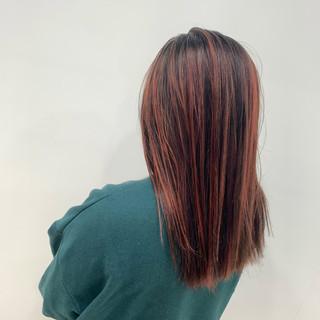 ブリーチ コントラストハイライト ストレート ストリート ヘアスタイルや髪型の写真・画像